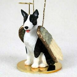 Bull Terrier Brindle ANGEL Tiny One Ornament Figurine Statue