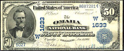 1902 50 Fr 668 Large Size National Third Charter Date Back-charter 1633 Oma