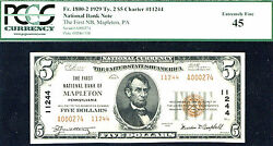 1929 5 Fr 1800-2 Ty2 Charter11244-pcgs 45-rare-pa-just 11 Known-0 Finer-fnb M
