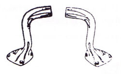 Ford Model A 192819292829 Cowl Lamp Arms - 1 Pair - Includes Hardware