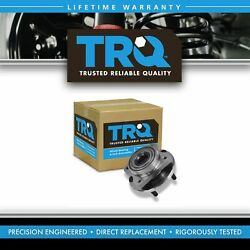 Trq 4 Piece Front Wheel Hub And Bearing And Cv Axle Kit For Dodge Chrysler Plymouth