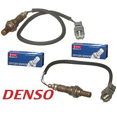 For Civic Del Sol Civic L4-1.6 Pair Set Of Front And Rear O2 Oxygen Sensors Denso