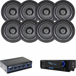 Pyle Am Fm Usb Sd Home Theater Receiver, 5.25 In-ceiling Speakers And Selector