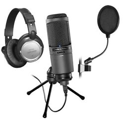 Audio-Technica AT2020USBi Cardioid Condenser USB Microphone BONUS PAK