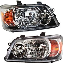Headlights Headlamps Left And Right Pair Set New For 04-06 Toyota Highlander