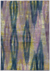 Pantone Universe Stone Contemporary Waves Faded Ikat Area Rug Abstract 59014
