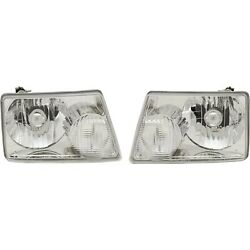 Headlights Headlamps Left And Right Pair Set For 01-11 Ford Ranger Pickup Truck