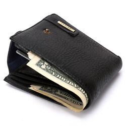 Fashion Men's Leather Bifold ID Card Holder Wallet Purse with Flap Coin Pocket $7.99