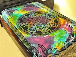 Tie Dyed Mandala Tapestry or Altar Cloth