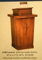 + New Pulpit + Lectern 6500 + + + Chalice Co. +
