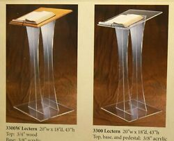 + Acrylic Lectern + Readers Stand + Pulpit 3300 + + + Chalice Co. +