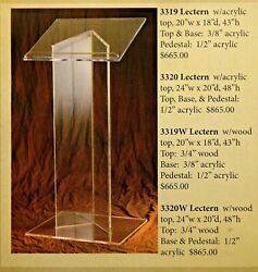 + Acrylic Lectern + Readers Stand + Pulpit 3319 + + + Chalice Co.