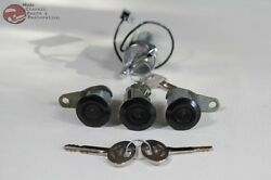 81-93 Mustang Ford Ignition Door Trunk Lock Cylinders Black W Keys New