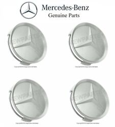 Mercedes w124 w126 r129 w210 Wheel Center Hub Caps OEM r107 w140 w201 w202 w208