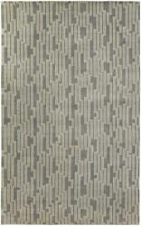 Surya Hand Knotted Wool Modern Abstract Gray 5x8 Rug - Approx 5and039 X 8and039