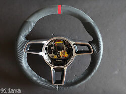 Cayman Gt 4 991 997.2 Stick Alcantara Carbon Leather Steering Wheel Red Top