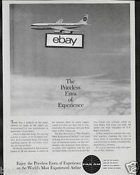 PAN AM 1962 BOEING 707 JET CLIPPER THE PRICELESS EXTRA OF EXPERIENCE AD