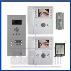 Bpt Vr Video Door Entry Kit With 2 X Colour Handsets - Vrwagcv2 - Ship Daily