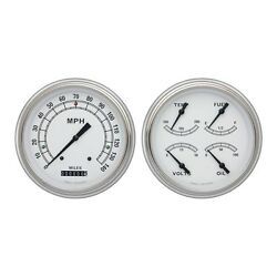 1951-1952 Chevrolet Chevy Car Classic White Package Gauge Set