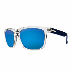 Electric Visual Knoxville Artic  Grey Blue Chrome Sunglasses ES09045162