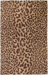 10x14 Surya Handmade Wool Beige Leopard 5000 Area Rug - Approx 10and039 X 14and039