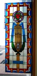 + Church Stained Glass Window + 1 Of 7 + Shipping Available +