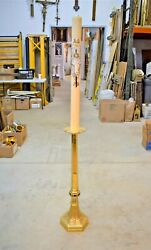 + 90 Year Old Ornate Gothic Paschal Candlestick With Candle Cu893 Chalice Co.