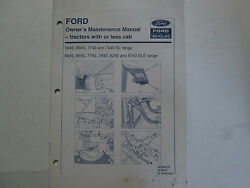 Ford Tractor Tractors With Or Less Cab Operator Manual Factory Oem Book Used