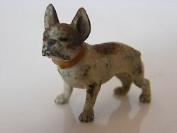 GREAT DETAIL MINIATURE COLD PAINTED BRONZE OF A FRENCH BULLDOG