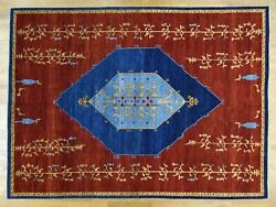 10and0393x14and039 Open Field Antiqued Bijar Natural Dyes Hand Knotted Rug R30345