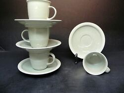 Mikasa Stone Craft Mesa Verde Cf402 Set Of 4 Cups And Saucers