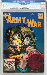 Our Army At War 81 Cgc 4.0 Dc 1959 Sgt. Rock Prototype F4 124 Cm Clean