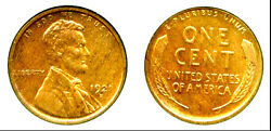 1921-s 1c - Lincoln Cent-