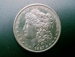 1887 S Morgan Silver Dollar 129 Years Old / Part Of U.s. History  210