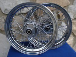 16x3.00 Wheel Set For Harley Fatboy And Heritage 84-99