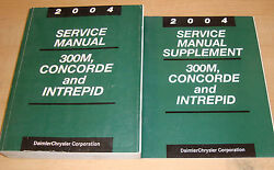 Original 2004 Chrysler 300M Concorde Dodge Intrepid Service Manual + Supplement