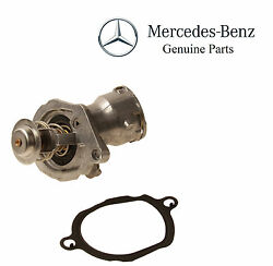 For Mercedes Engine Coolant Thermostat W/ Housing Gasket Genuine 272 200 05 15