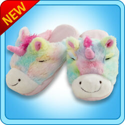 Pillow Pets Authentic Rainbow Unicorn Slippers Toy Gift - Check Size Chart