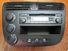 2001 2002 2003 2004 2005 Honda Civic  AC HEATER CLIMATE CONTROL CD PLAYER RADIO