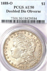1888-o 1 Doubled Die Obverse Au50 Pcgs-rare In Au-pop 11-only 126 In Higher