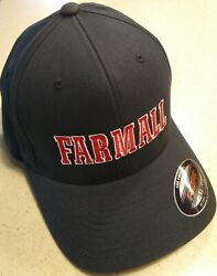Farmall Black Flex Fit Embroidered Solid Hat 2 Sizes
