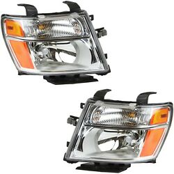 Headlight Set For 2012-2017 Nissan Nv2500 Left And Right With Bulb 2pc