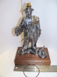 Michael Ricker Limited Edition 1992 Pewter Sculpture Clown Hoop Dog Marvin Scamp