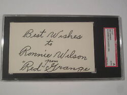 Red Grange Chicago Bears Signed Autographed 3x5 Index Card Sgc Coa