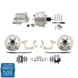 1955-58 Gm Full Size Disc Brakes W/ 8 Dual Stainless Conversion Kit 312lx