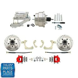 1955-58 Gm Full Size Disc Brakes W/ 8 Dual Stainless Conversion Kit 313lxr