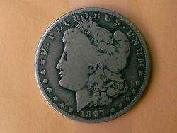 1897- O Morgan Silver Dollar Over 119 Years Old / Part Of U. S. History