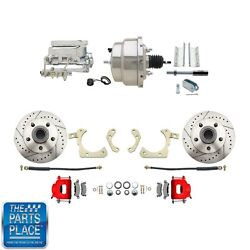 1955-58 Gm Full Size Disc Brakes W/ 8 Dual Stainless Conversion Kit 312lxr