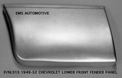 Chevrolet Chevy Car Lower Rear Of Front Fender Patch Left 1949-1952 313l Ems