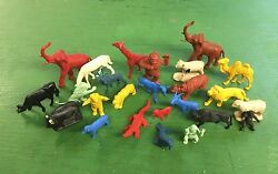 Vintage Marx, Auburn, Timme Zoo And Farm Animals 1/3254mm Scale Plastic Figures